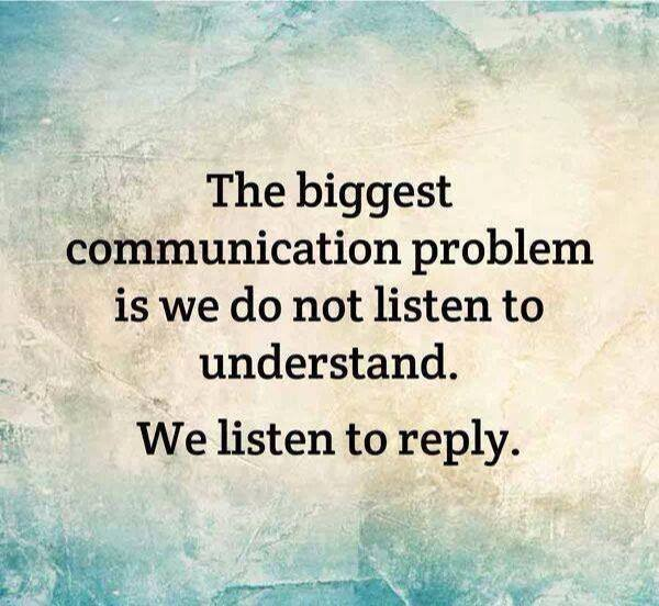 Are you listening or thinking about what you'll say?
