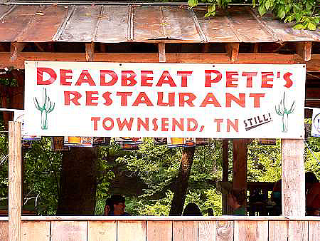 Deadbeat Pete's in Townsend, TN
