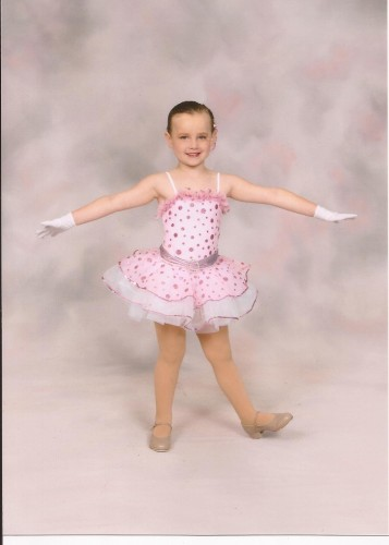 Natalie Getting Ready for the Dance Recital