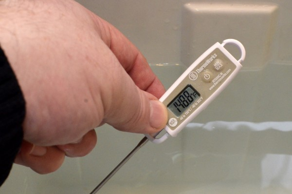 ThermoWorks Thermometer in Sous Video Cooking
