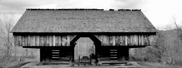 Cantilever Barn in Cades Cove
