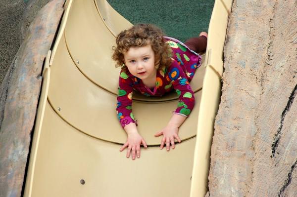 Natalie on the slide