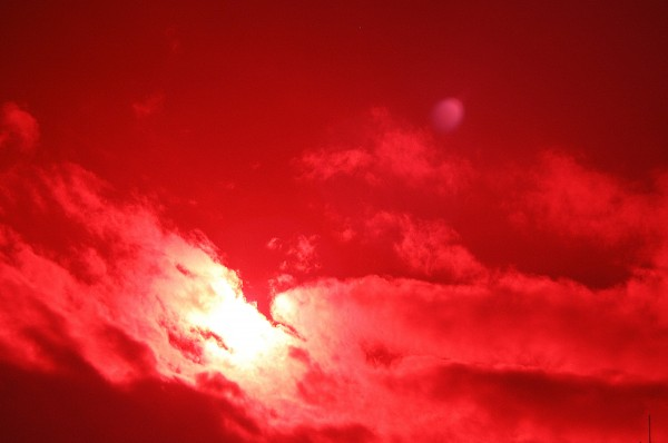 Sun Sky and Clouds in Infrared