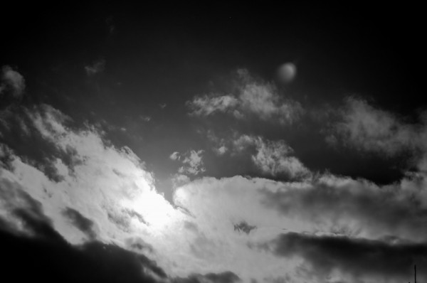 Infrared Sun Sky and Clouds