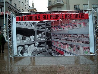 Sign: To Animals All People Are Nazis