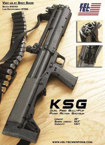 KelTec KSG bullpup shotgun