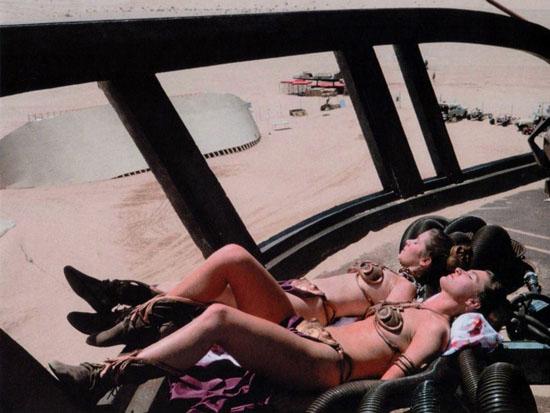 princess leia bikini. Bikini Leia and her stunt
